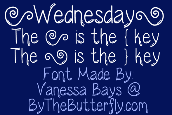 Image for Wednesday font