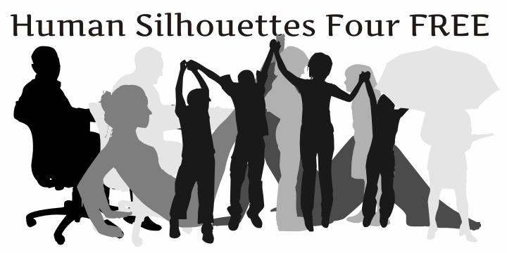 Human Silhouettes Free Four font by Intellecta Design