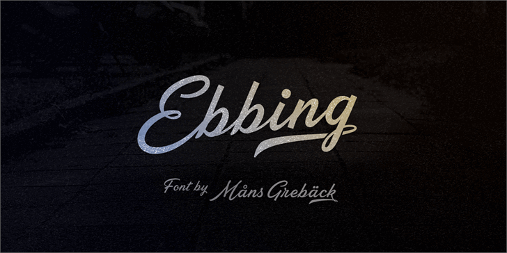Image for Ebbing PERSONAL USE ONLY font
