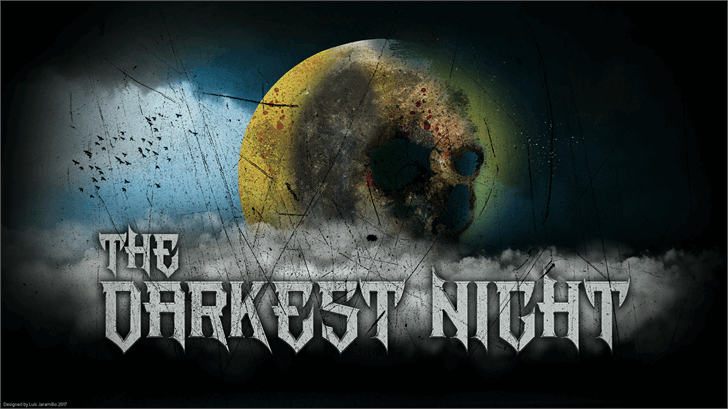 Image for The Darkest Night font