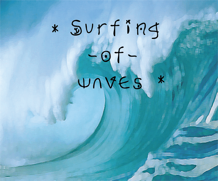 Image for Surfing  of waves font