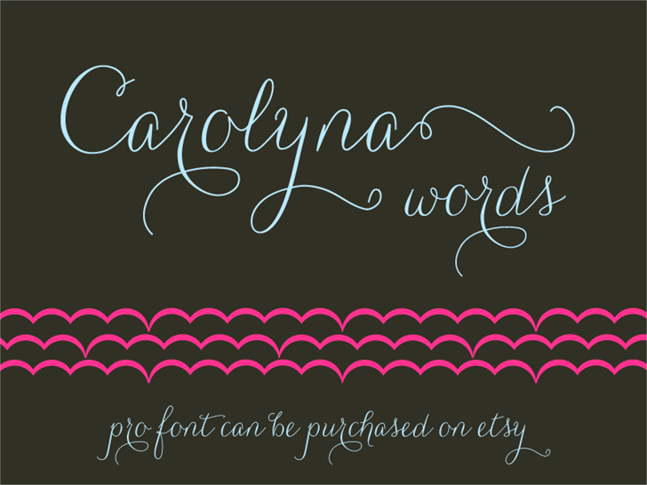 Image for Carolyna Words font