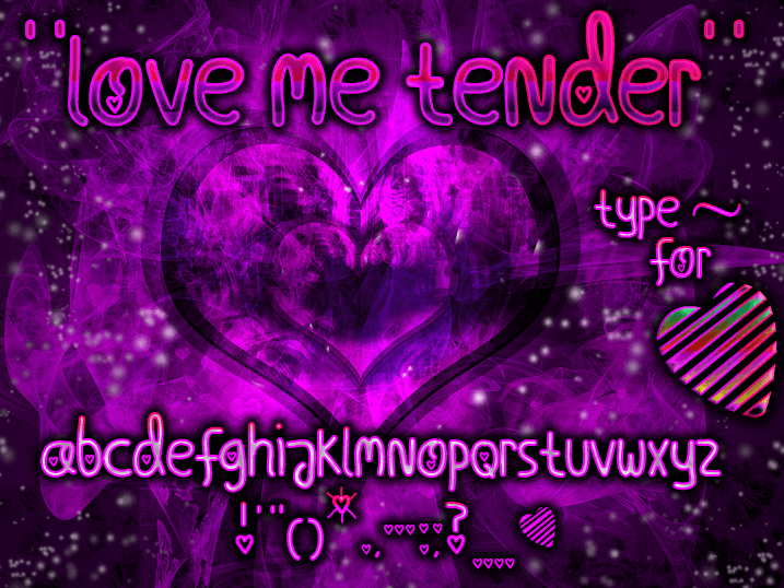 Image for Love Me Tender font