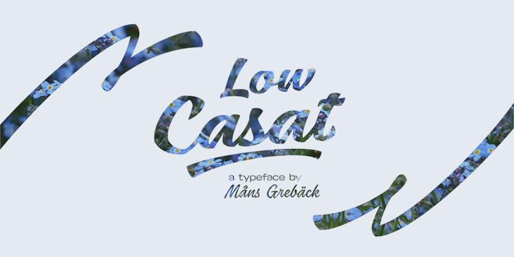 Low Casat Light PERSONAL USE font by Måns Grebäck