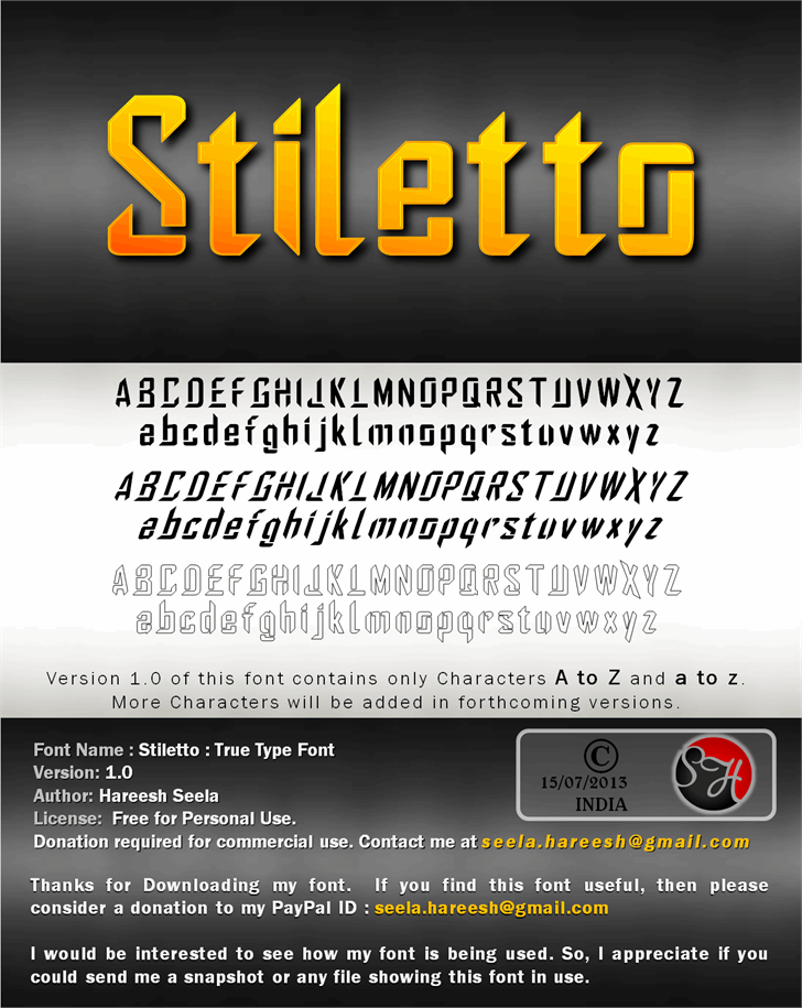 Image for Stiletto font