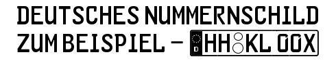 Image for GL-Nummernschild font