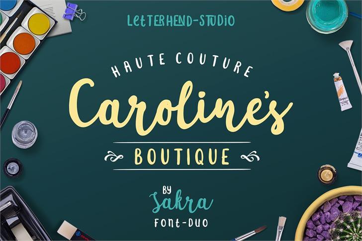 Sakra font by Letterhend Studio