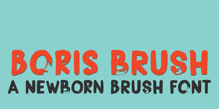 Image for DK Boris Brush font