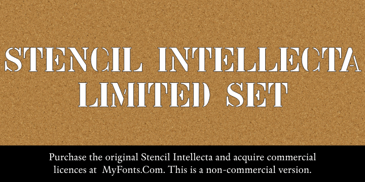 Stencil Intellecta Limited Set font by Intellecta Design