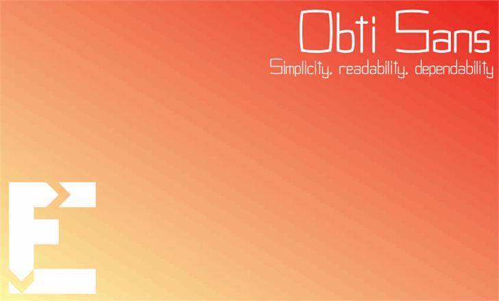 Image for Obti Sans font