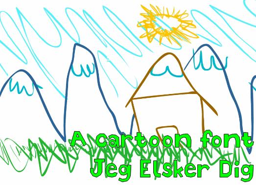 Image for Jeg Elsker Dig font