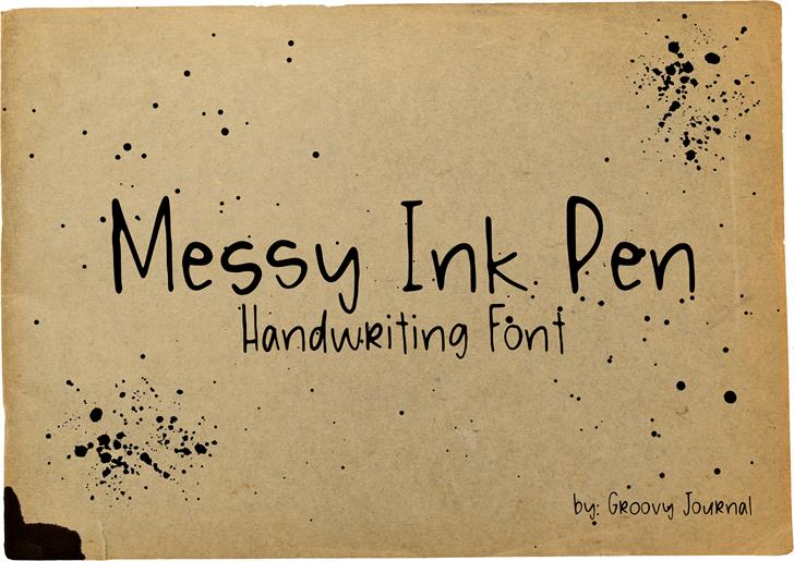 Messy Ink Pen font by GroovyJournal