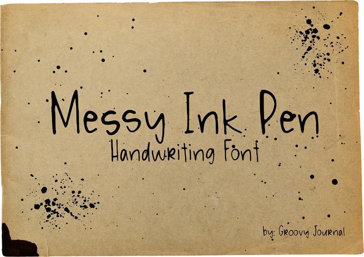 Image for Messy Ink Pen font