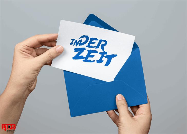 Image for In der Zeit font