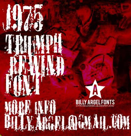 TRIUMPH REWIND font by Billy Argel
