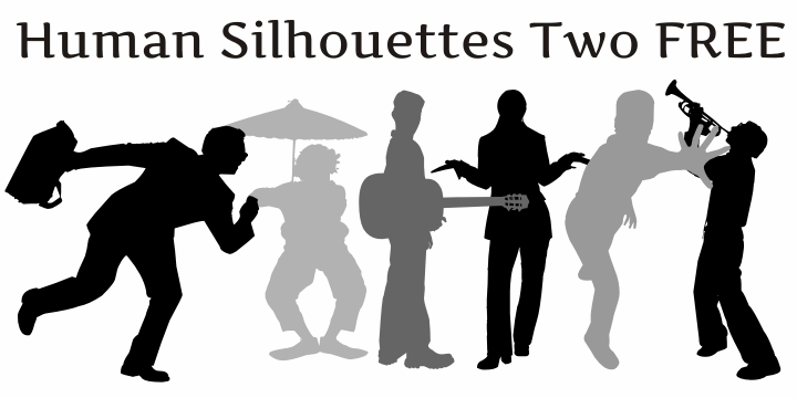 Image for Human Silhouettes Free Two font