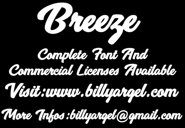 Image for Breeze Personal Use font