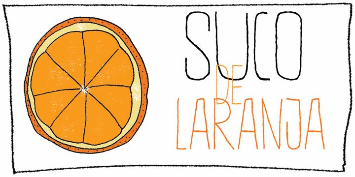 Image for DK Suco De Laranja font