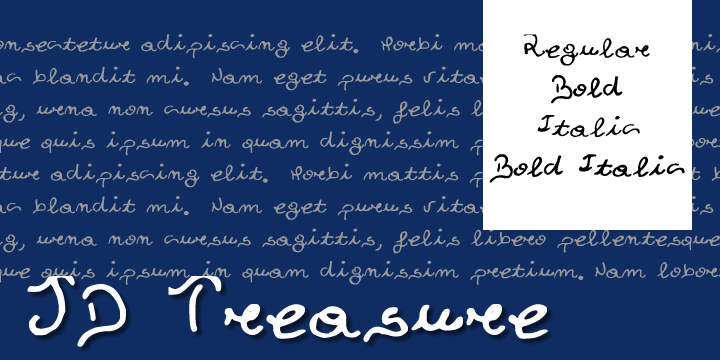 Image for JDTreasure font