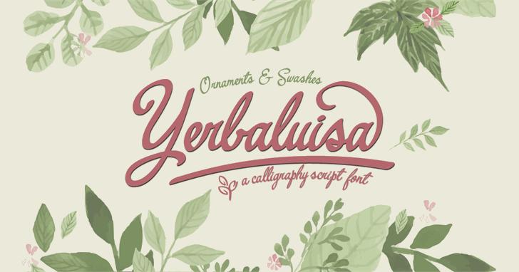 Image for Yerbaluisa font