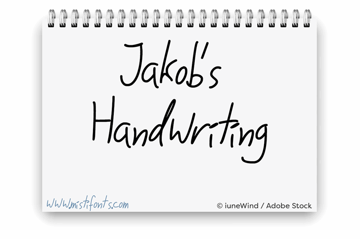 Jakobs Handwriting font by Misti's Fonts