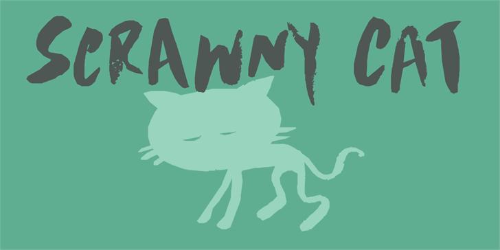 Image for DK Scrawny Cat font