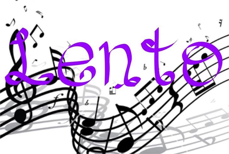 Image for Lento font