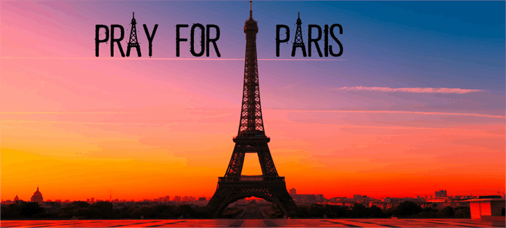 Image for PRAY FOR PARIS font