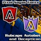 Image for RubCaps Destron font
