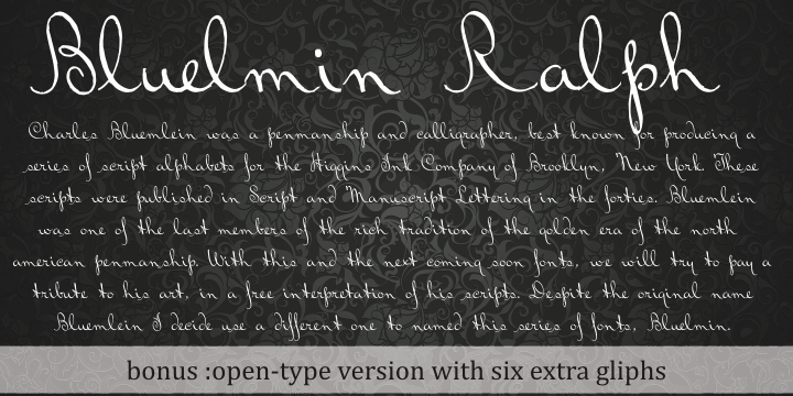 Bluelmin Ralph font by Intellecta Design
