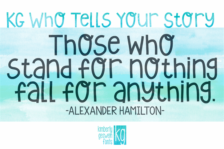KG Who Tells Your Story font by Kimberly Geswein