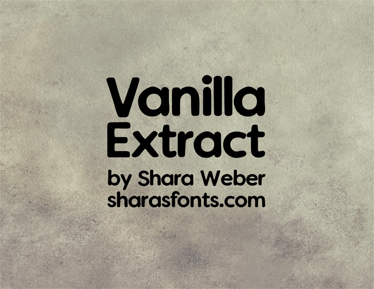 Vanilla Extract font by Shara Weber