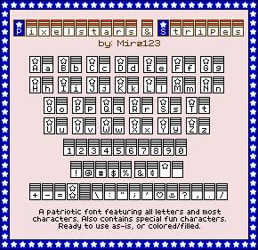 Pixelstars & Stripes Regular font by Mirz123