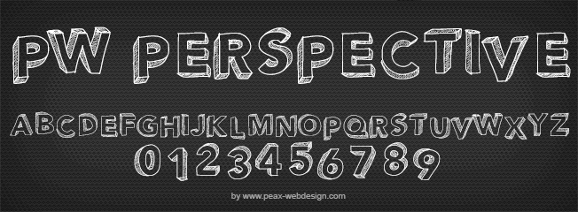 PWPerspective font by Peax Webdesign