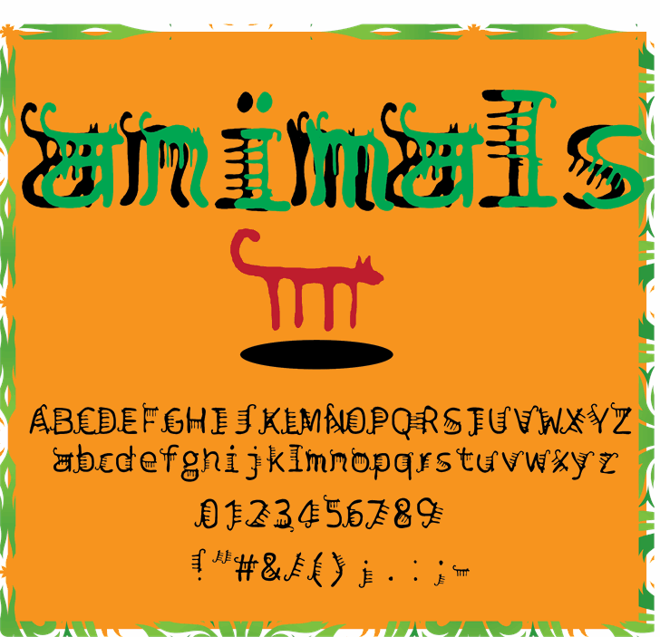 animals font by Cé - al