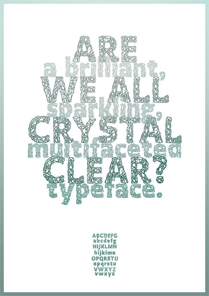 Image for Crystalline font