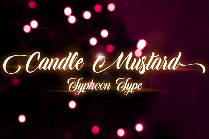Image for Candle Mustard font