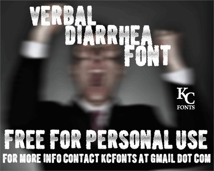 Image for Verbal Diarrhea font