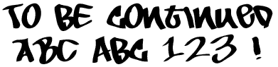 Image for To Be Continued font