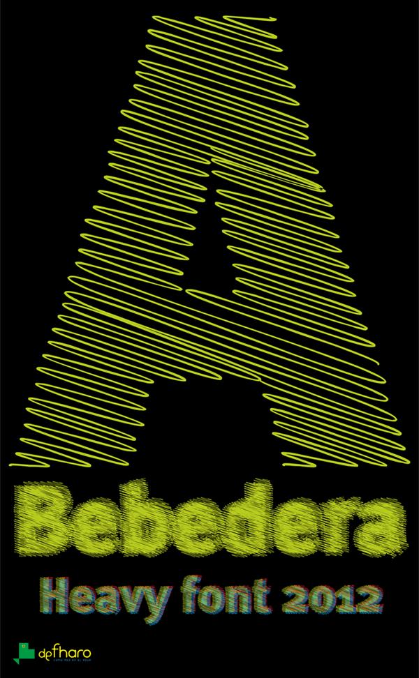 Image for A Bebedera font
