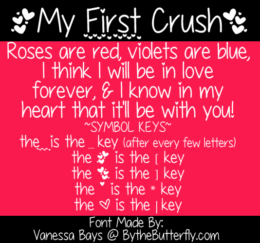 My First Crush font by ByTheButterfly