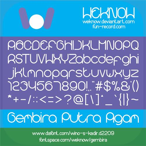 Image for gembira font