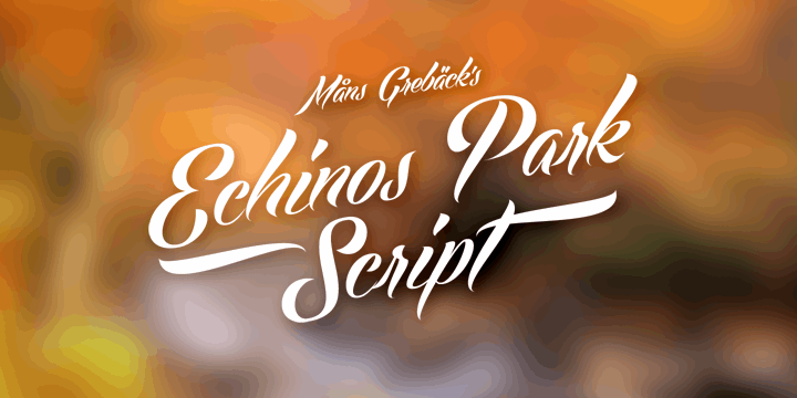 Image for Echinos Park Script PERSONAL US font