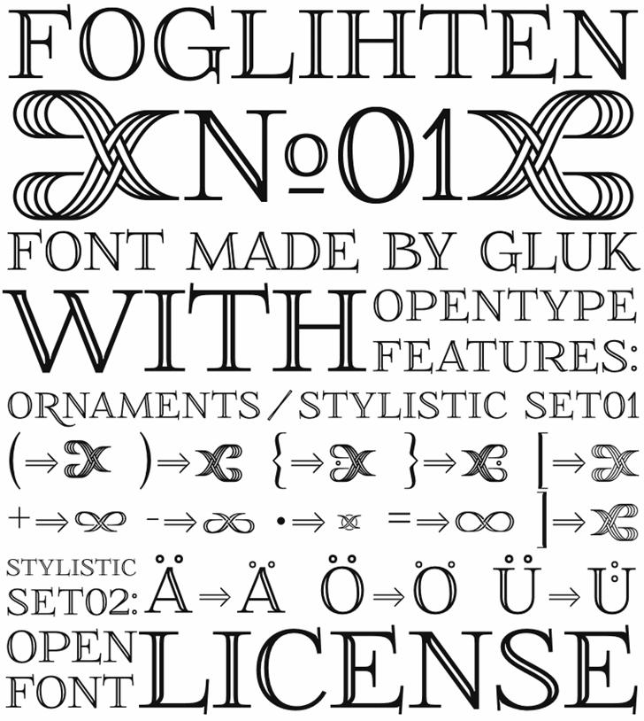 Image for FoglihtenNo01 font
