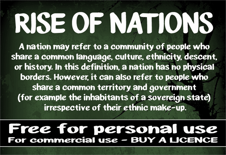 Image for CF Rise of Nations font