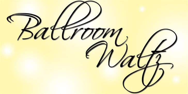Image for BallroomWaltz font