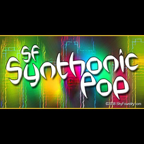 SF Synthonic Pop font by ShyFoundry