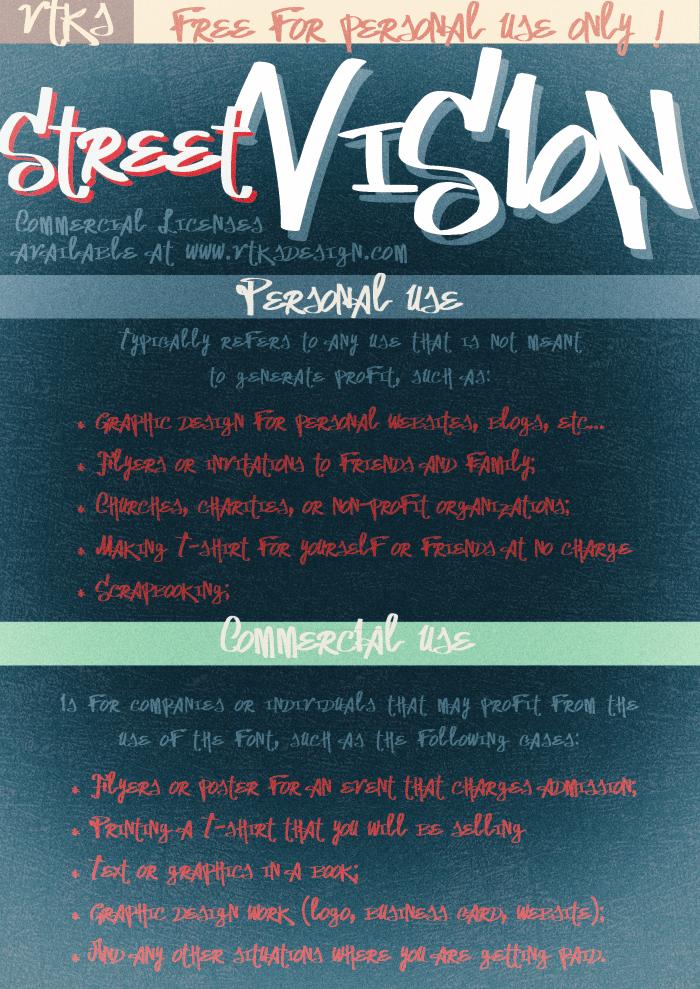 Image for Vtks Street Vision font