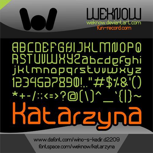 Image for Katarzyna font