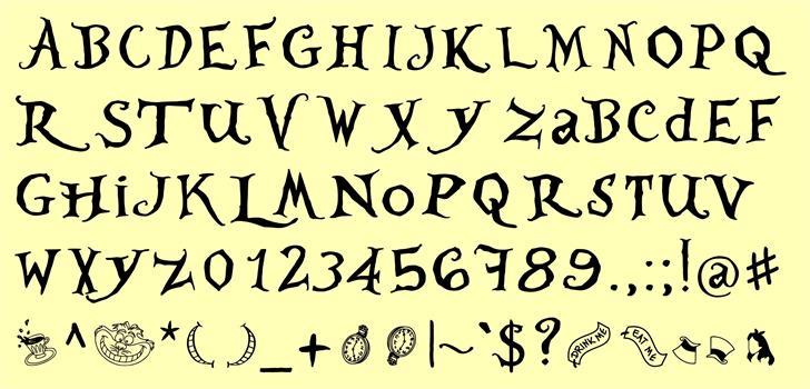 WhereisAlicedemo font by JoannaVu